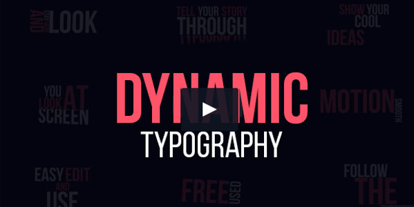 Dynamic Flat Typography Video Template