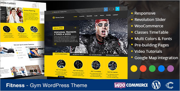 E-commerce Fitness WordPress Template