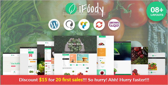 E-commerce Food WordPress template