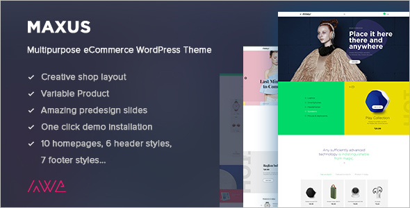 E-commerce Product WordPress Template