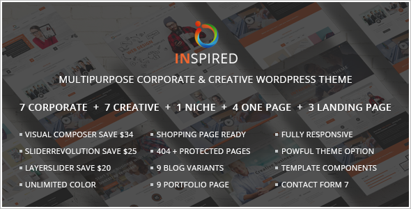 E-commerce Single Page WordPress Template