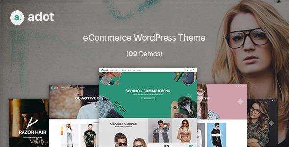 E-commerce Typography WordPress Template