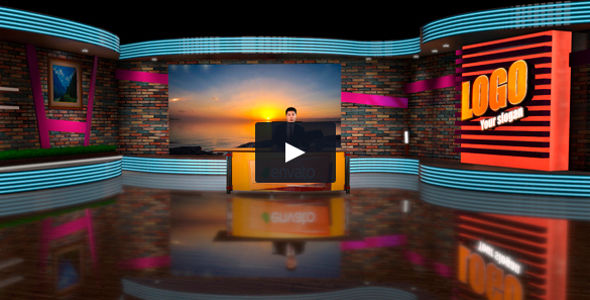 Easy Customizable 3D Virtual Studio Video