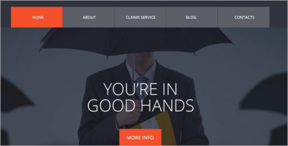 Editable Insurance Website Template