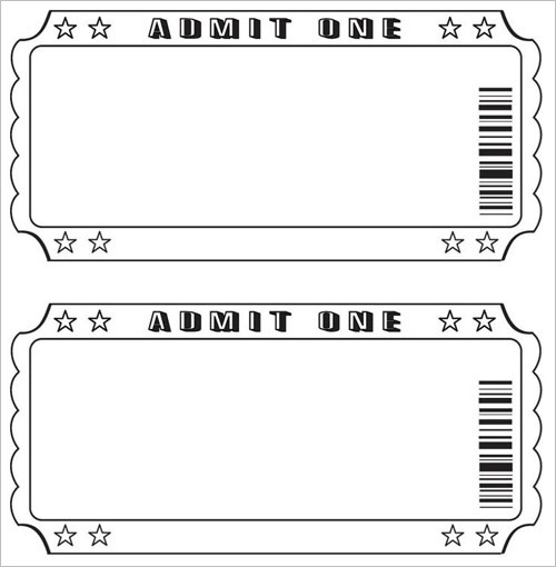 Editable Movie Ticket Template Free