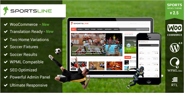 Editorial Sport Magzine Blog Template