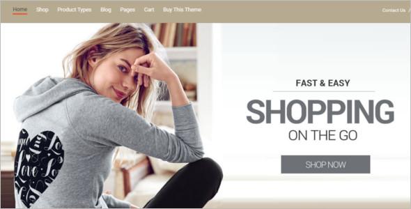 Elegant E-commerce WordPress Template