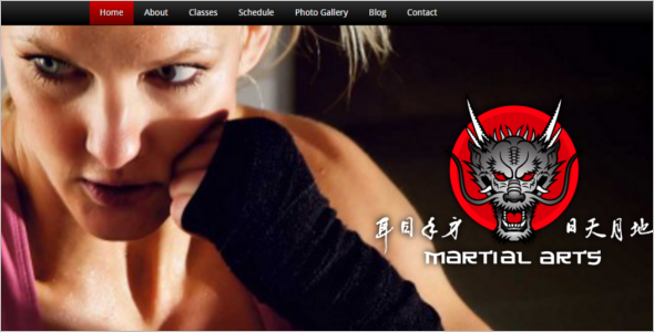 Elegant Martial Arts Website Template
