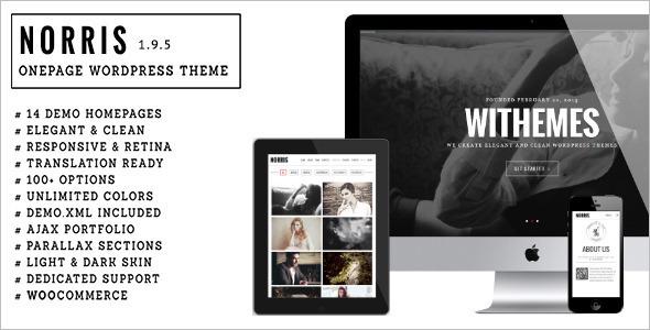 Elegant OnePgae Parallax WordPress Template