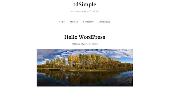 Elegant Open Source WordPress Template