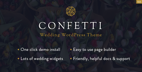 Elegant Wedding WordPress Template