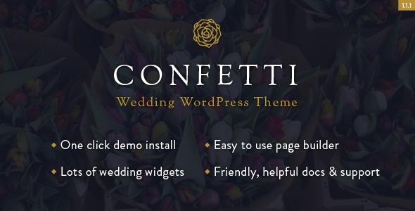 Elegant Wedding WordPress Template