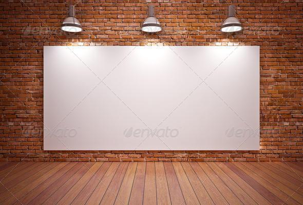 Elegent Banner on wall textured