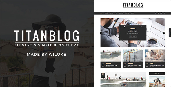 Elegent Blogger WordPress Template
