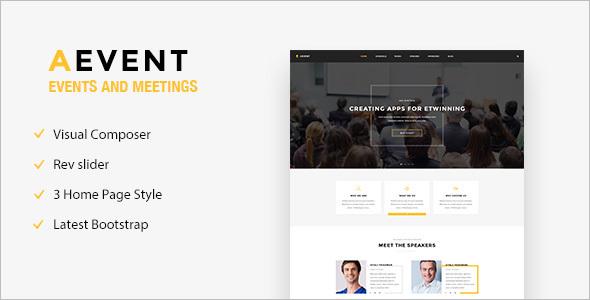 Entertainment Event WordPress Template
