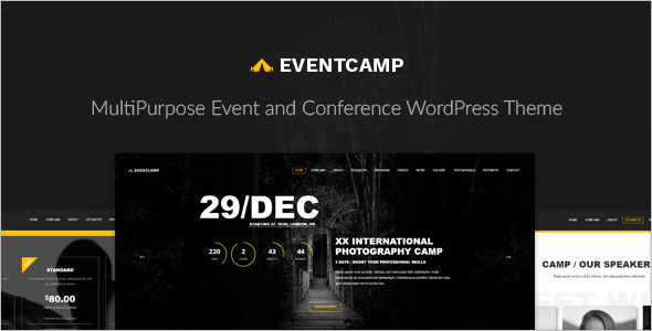 Entertainment Event WordPress Template