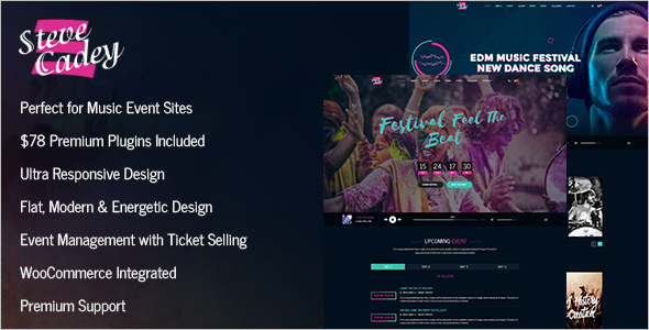 Entertainment Musician WordPress Template