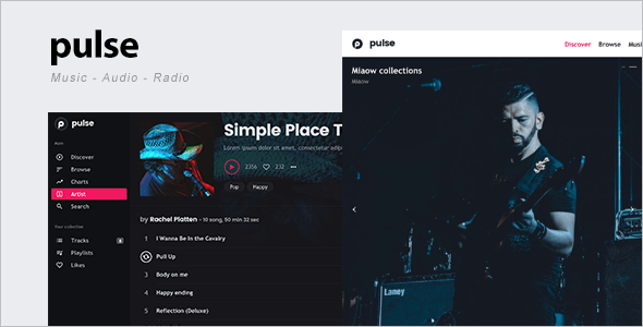 Entertainment Radio WordPress Template
