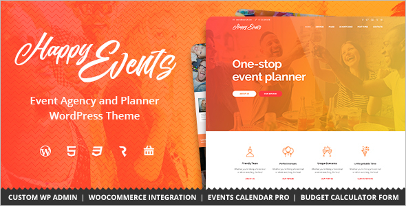 Event Agency WordPress Template