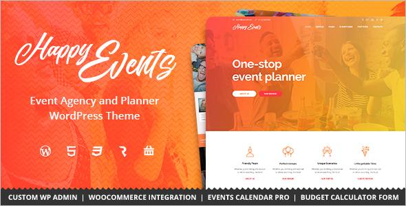Event Agency WordPress Template