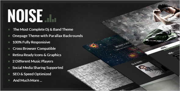Event Music WordPress Template