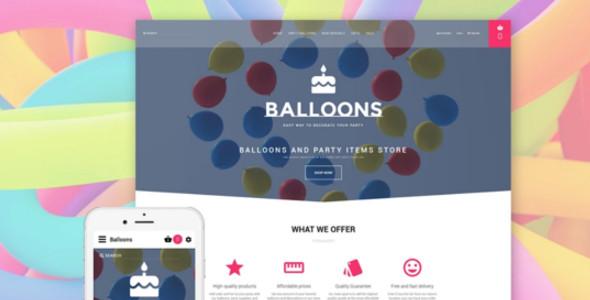 Event Planner Balloons OpenCart Template