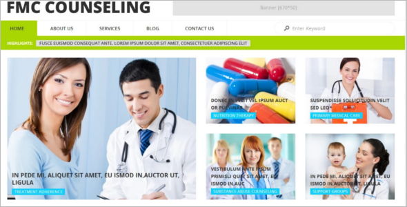 FMC Counseling WordPress Template