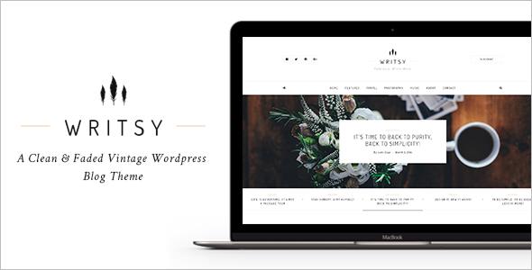 Faded Vintage WordPress Blog Theme