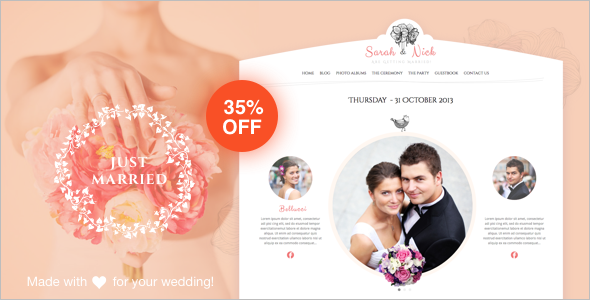 Fancy Wedding WordPress Template