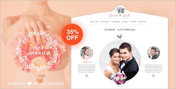 Fancy Wedding WordPress Template