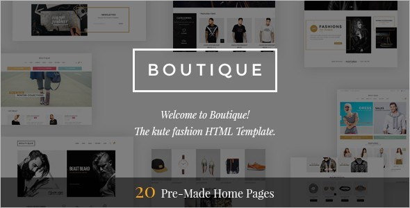 Fashion Boutiqu Website Template