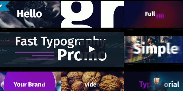 Fast Typography Promo Tutorial Template
