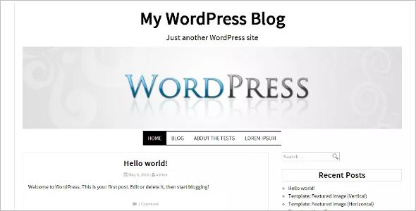 Feactured Open Source WordPress Template