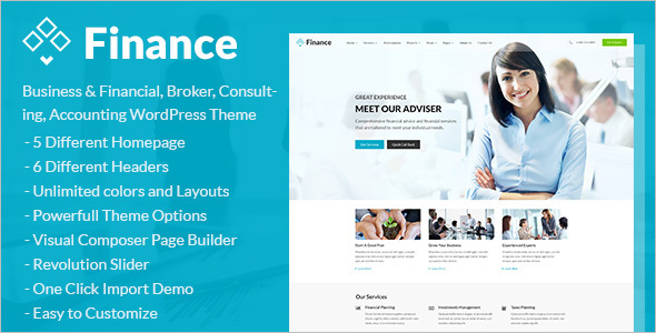 Finance Accounting Website Template