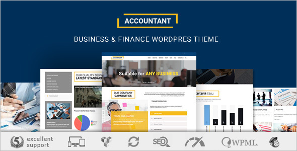 Finance & Accounting WordPress Template