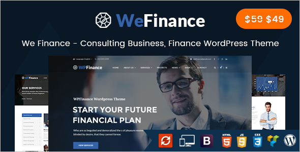 Finance Advisor Website Template