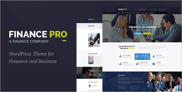 Finance Company Website Template