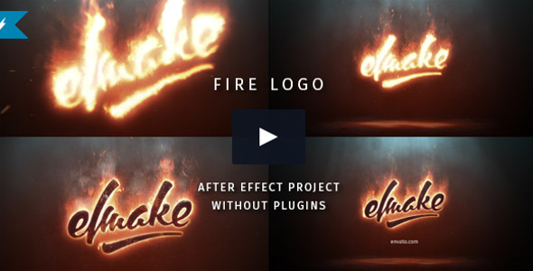 Fire Logo Infographic Video Template