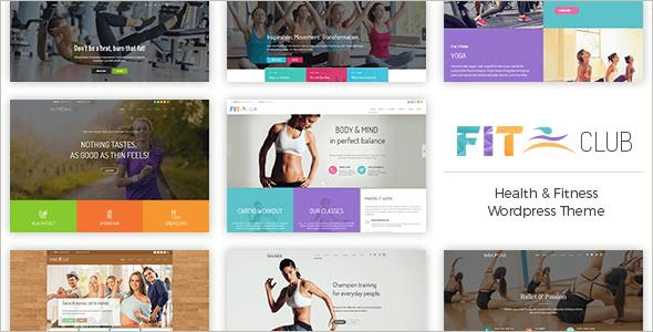 Fitness Club WordPress Website Template