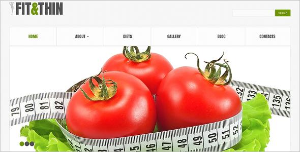 Fitness Food WordPress Template