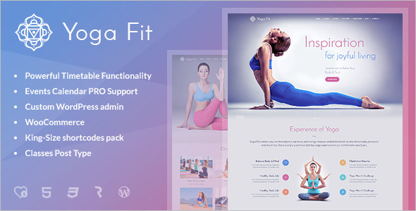 Fitness & Gym WordPress Template