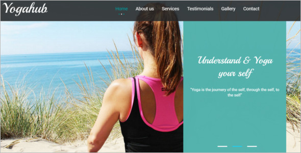 Flat Bootstrap Yoga Website Template
