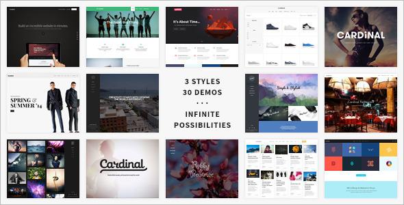 Flat Gallery WordPress Template