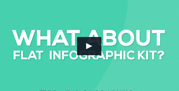 Flat Infographics Typography Video Template