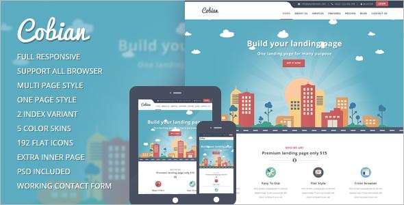 Flat Marketing WordPress Template