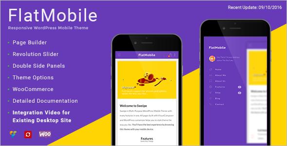 Flat Mobile WordPress Template