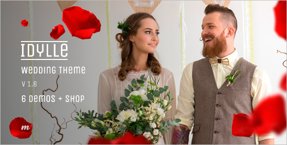 Flat Wedding WordPress Template