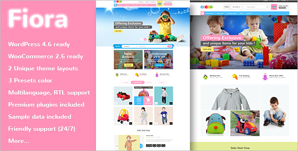 Flexible Kids Store WordPress Template