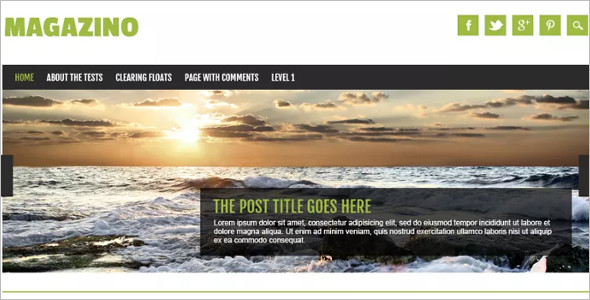 Flexible Open Source WordPress Template