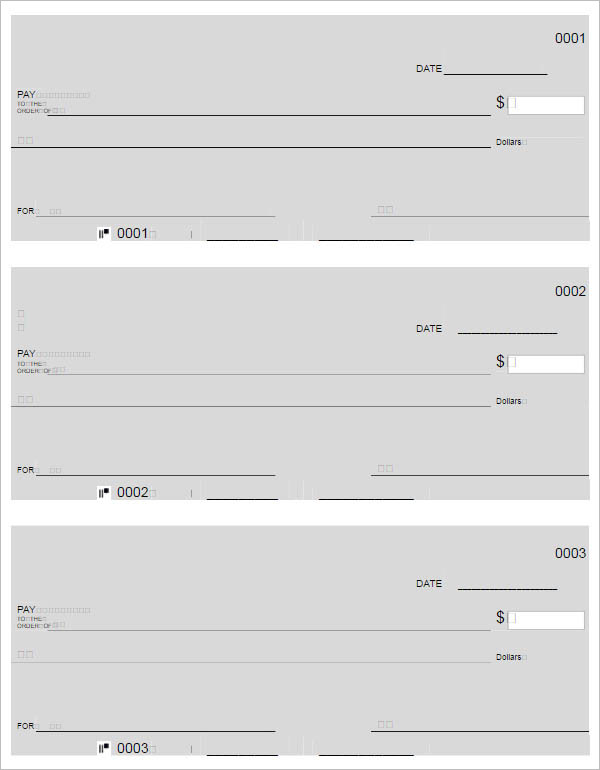 Free Download General Blank Checks Pdf Download